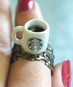 starbucks coffee ring #shoplately--I know a few people who would love this