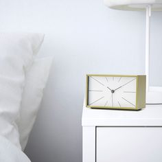 A clock without the tick-tock. The mechanism has a silent movement so you can relax and sleep without being disturbed by the sound, until the alarm sets in.