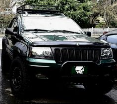 99 Jeep Grand Cherokee #westcoastjeeps #bushwacker #99grandcherokee #wj  #Punisher #greenmachine