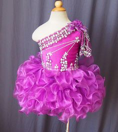 Purple Beauty Little Girl Dresses Cupcake Princess Dresses