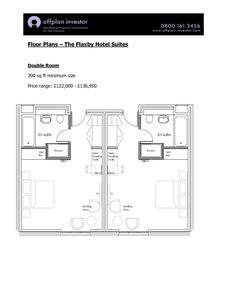Hotel Room Floor Plans   Floor Plans The Flaxby Hotel Suites Double Room sq ft