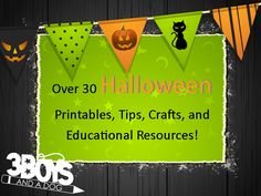 Lots of cute Halloween craft ideas plus some fub printables! #Halloween #crafts