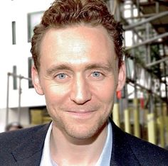 He's smiling because you're here! Tom Hiddleston everyone