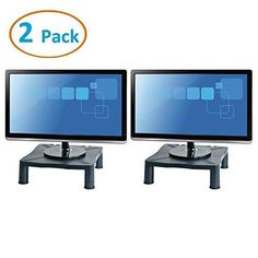 """TsirTech Height Adjustable Monitor Stand - Printer Stand - Desk Shelf - Monitor Riser For Screens Up To 24"""" (24 Inches) - 2 Pack"""