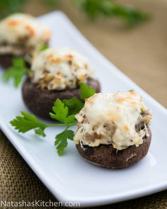 Chicken Stuffed Mushrooms