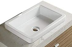 Elimax's Bathroom Ceramic Porcelain Vessel Sink With Free Chrome Pop Up Drain (Chrome Pop UP Drian), Chrome Drain Dresser Vanity Bathroom, Vessel Sink Bathroom, Vanity Sink, Bathroom Furniture, Sinks, Painted Sideboard, Drop In Sink, Wooden Vanity, Brass Faucet