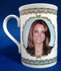 This is a wpnderful English bone china mug made to commemorate the wedding of Prince William Prince William Wales and Catherine...Kate Middleton on April 29, 2011. The bone china mug was made by Royal