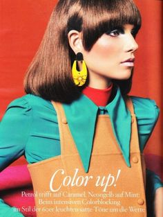 color up! Photographed by Sebastian Kim, the Vogue Germany October 2010 'Color Up!' spread is definitely eye-catching.