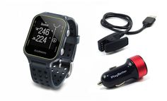 Garmin Approach S20 (Slate) Golf GPS Watch with PlayBetter USB Car Charge Adapter | Activity Tracker, Smart Notifications