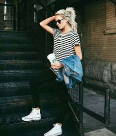 High Top, Chuck Taylor Converse sneakers. White shoes
