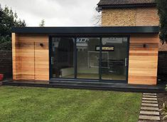 Garden Rooms - photo gallery of buildings by Swift Garden Rooms. Permanent garden buildings for anyone who needs more living space! Office Floor, Wooden Screen, Box Houses, Garden Buildings, Garden Office, Floor To Ceiling Windows, Shed Storage, Internal Doors, Maine House