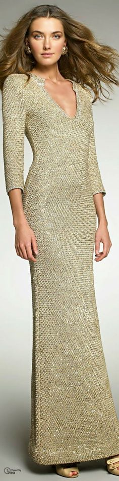 Inspirações de Croche com Any Lucy: Vestido/Oscar De La Renta