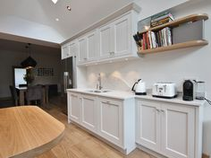 """""""Cornforth White"""" classical kitchen design, featuring hand-painted #inframe cabinetry by #enigmadesign near Sandycove, Ireland #KitchenDesign"""
