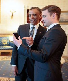 Obama & Justin Timberlake (*N)Sync Their May Love