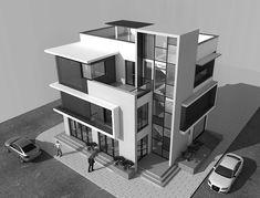 Architecture Model Making, Architecture Sketchbook, Concept Architecture, Interior Architecture, Architecture Portfolio, 3d Modelle, Architectural Section, House Front Design, Building Design