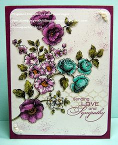 One Layer, One Word and One Sketch- Having Fun with Flowers, Stampin' Blendabilities and Challenges!!