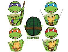 teenage mutant ninja turtle cupcakes   INSTANT DOWNLOAD Teenage Mutant Ninja Turtles Cupcake Toppers Wrappers ...