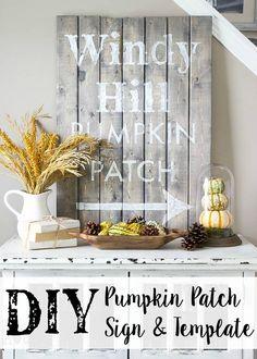 DIY Pumpkin Patch Si