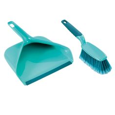 Leifheit Broom and Dustpan Set is a handheld broom and dustpan. Its elegant design makes for more thorough sweeping up. Dustpans And Brushes, Broom And Dustpan, Rubber Lips, Mop Heads, Contemporary Furniture, All Modern, Cleaning Supplies, Household, Turquoise