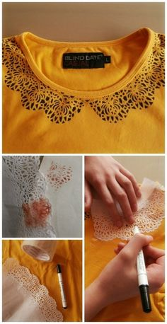 DIY you could use this lace / printing idea on almost anything!