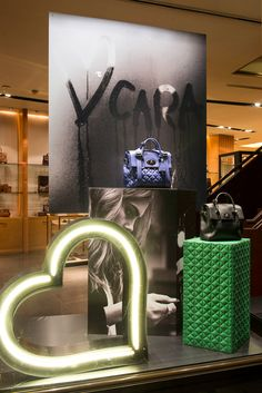 Mulberry Window Display | Cara Delevingne Collection, 2014 by Millington Associates