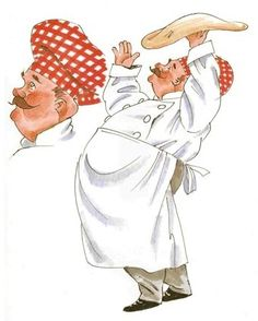 Chef Pizza - By: Artist John Bardwell Man Illustration, Character Illustration, Pizza Pictures, Chef Pictures, Chefs, Pizza Chef, Pizza Logo, Pizza Art, Laminas Para Decoupage