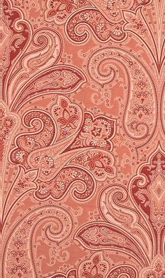Kellie Paisley wallpaper [no longer included as a stock item at source] Paisley Wallpaper, Paisley Art, Paisley Fabric, Paisley Design, Fabric Wallpaper, Paisley Pattern, Pattern Wallpaper, Design Textile, Textile Patterns