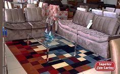 Veja como um lindo ambiente como esse da Luciana Interiores ganha vida com a escolha certa do tapete: o nosso Pixel Imagem deixa o essa sala alegre e receptiva - Luciana Interiores - Av Londres, 200 - Contagem/MG #Pixel #TapetesSaoCarlos #HomeDecor
