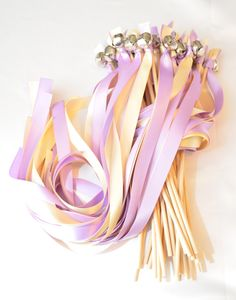 75 Ribbon Wands WithBigger Bells Wedding By DivinityBraid