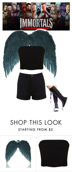 """""""In WWE Immortals"""" by directioner356 ❤ liked on Polyvore featuring Miss Selfridge and Converse"""
