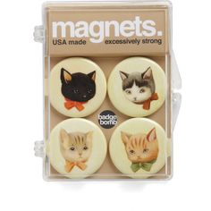 Stick with Me, Kitten Magnet Set (146.455 IDR) ❤ liked on Polyvore featuring home, home decor, office accessories, fillers, accessories, decor, stick magnet, animal magnets, magnets fridge and cat magnets