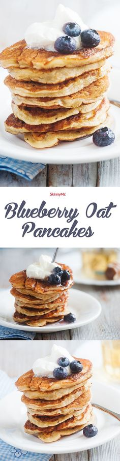 These Blueberry Oat Pancakes are the perfect way to start your morning off on a healthy note!