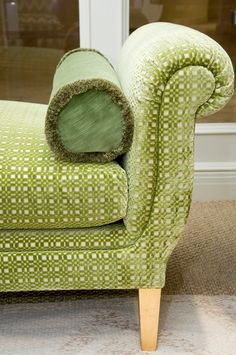 Intricate fabric in a vibrant green for AERIN for Lee Jofa