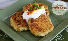 Loaded Potato Cakes from Melissa's Southern Style Kitchen