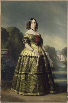 1847 Luísa Fernanda, Duchesse de Montpensier by Franz Xaver Winterhalter (Versailles)   Grand Ladies   gogm