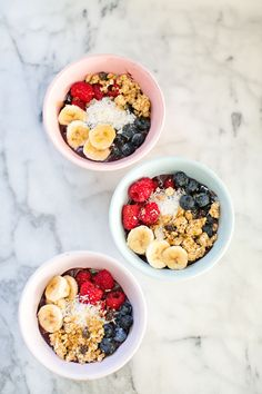 Kid-made Acai Bowl. Refreshing and healthy breakfast that's fun for kids to make! #cookingwithkids #acai