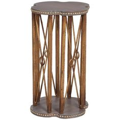 Bedford Accent Table in Gray and Gold