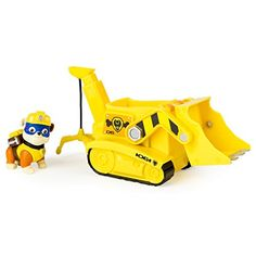 Rubble is on the double! Rubble's Crane Vehicle saves the day with its moveable scoop and Crane! This pup and vehicle combination is loaded with Adventure Bay action! Go high up with the Crane and s...