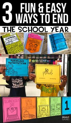 3 fun and easy ways to celebrate the end of the school year with a countdown, student awards, and memory scrapbook in an interactive notebook form. #endoftheyear #thirdgrade #secondgrade #firstgrade
