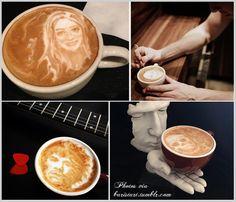 Coffee art by artist  Mike Breach