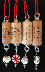 CHRISTMAS-Authentic-Wine-Cork-Ornament-Snowman-Collectible-Gift-Bottle-Hanger