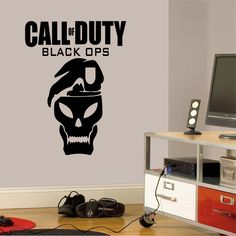 Call of Duty Themed Bedroom | Call of Duty Black Ops wall sticker in a bedroom