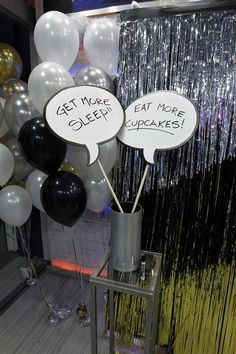 Some awesome New Year's Eve resolutions on dry erase bubbles!  Photo credit: ABC/Lou Rocco