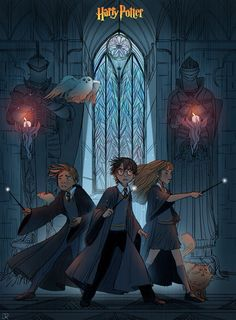 "A scene of Prisoner of Azkaban. Harry, Ron, Hermione, Scabbers, Hedwig and Crookshanks. julierouviere: Thank you for your support ! A little fan art of ""Harry Potter"" ! Harry Potter Anime, Harry Potter Fan Art, Fans D'harry Potter, Mundo Harry Potter, Harry Potter Drawings, Harry Potter Books, Harry Potter Universal, Harry Potter Fandom, Harry Potter World"
