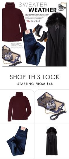 """""""Fall Style With The RealReal: Contest Entry"""" by dian-lado ❤ liked on Polyvore featuring The Row, Mohzy, Levi's, Zara and Dolce&Gabbana"""