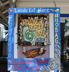 Colorful Sign at Hurricane Oyster Bar & Grill in Grayton Beach