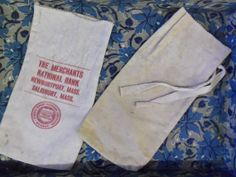 Small Vintage Canvas Bank Bags To Repurpose from by rustysecrets, $15.00