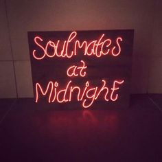 Soulmates at Midnight Handmade Neon Signs