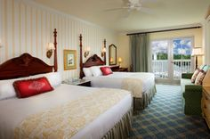 Disney's BoardWalk Inn | Deluxe resort. Standard room. some rooms at this resort have a twin day bed for a 5th person.  donna.genco@mei-travel.com