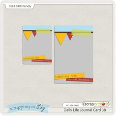 Daily Life Journal Card Template FREEBIE 38. *